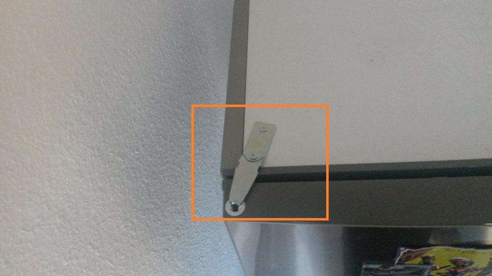 Kühlschrank umbauen von links