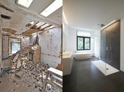 Badezimmer sanierung  Badezimmersanierung günstig durchführen
